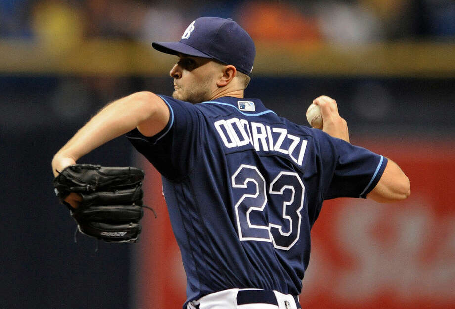 Tampa Bay Rays starter Jake Odorizzi pitches against the Detroit Tigers during the first inning of a baseball game Thursday, June 30, 2016, in St. Petersburg, Fla. (AP Photo/Steve Nesius) Photo: Steve Nesius/AP Photo
