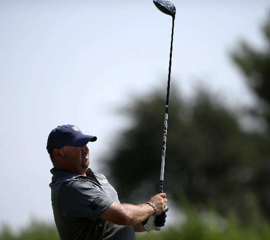 Jason Hewett tees off during the Star Electric Men's City Championship on Saturday, August 1, 2015 at Hogan Park Golf Course.James Durbin/Reporter-Telegram Photo: James Durbin/Reporter-Telegram