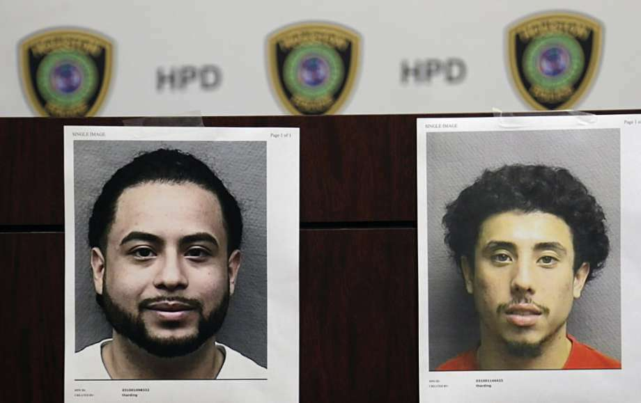 Booking photographs of Michael Armando Arce left, and Jesse Irvin Zelaya who are both charged with unauthorized use of a motor vehicle Aug. 4, 2016, in Houston. The two suspects arrested and are believed responsible for the theft and illegal export of more than 100 vehicles, specifically trucks and sport utility vehicles. Houston Police Department Photo Photo: Photo: Houston Police Department, Houston Chronicle