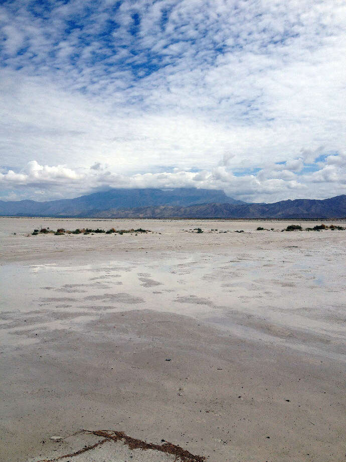 In this Aug. 22, 2016 photo, the barren salt flats at the base of the Guadalupe Mountains in Hudspeth County, Texas, which prompted the El Paso Salt War of 1877 are shown Photo: Houston Chronicle