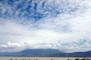 In this Aug. 22, 2016 photo, the barren  salt  flats at the base of the Guadalupe Mountains in Hudspeth County, Texas, which prompted the El Paso  Salt  War of 1877 are shown
