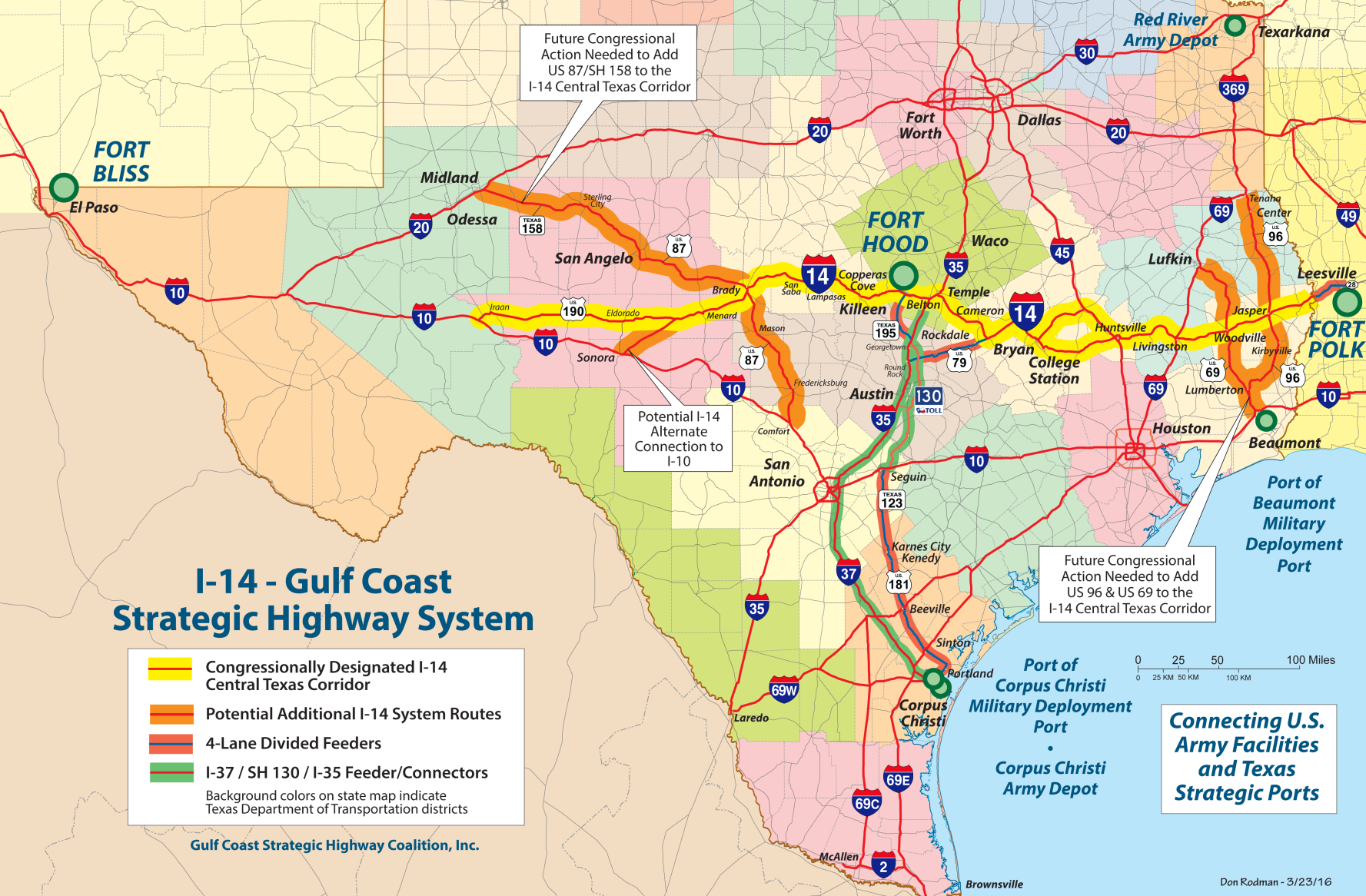 MOTRAN Calls For Changes In I Route Midland ReporterTelegram - Us route 50 map