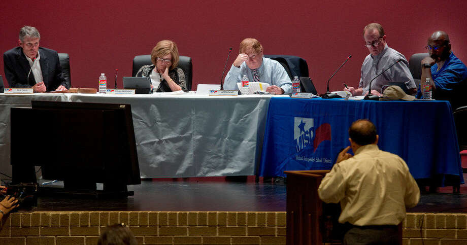 Midland school board members discuss and vote on setting August 8 as a public meeting to discuss a proposed budget and tax rate increase during the board meeting Monday 07-25-16. Tim Fischer/Reporter-Tel­egram