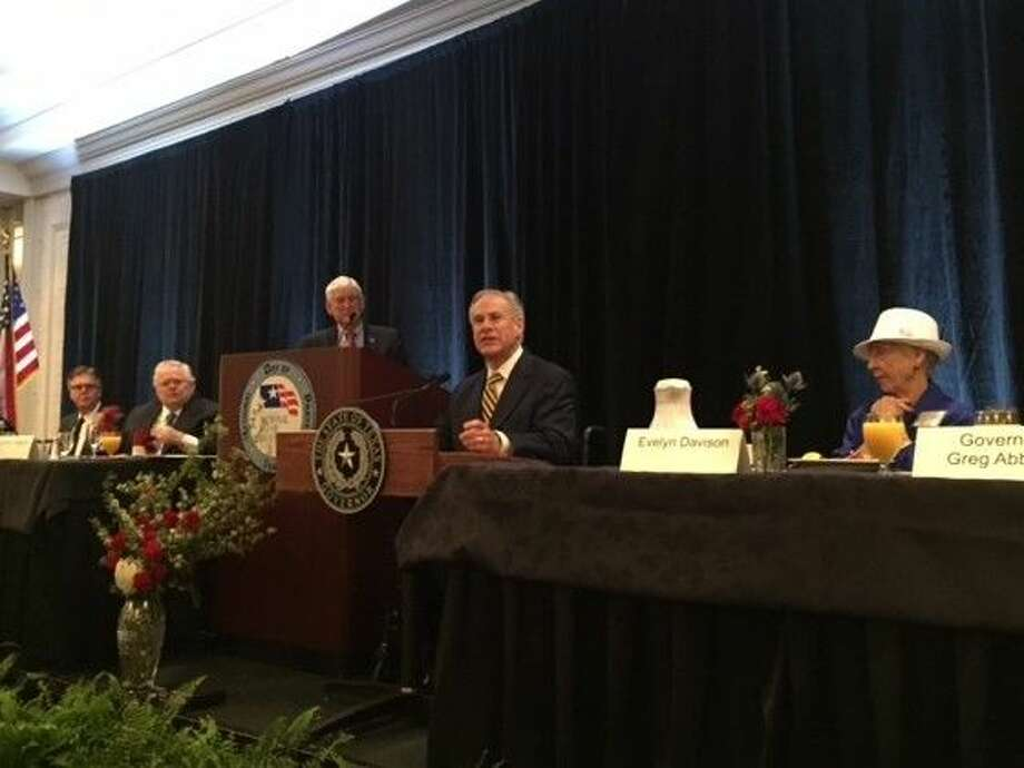 Abbott delivers remarks at the Texas National Day of Prayer breakfast held Monday, May 2 in Austin. Photo: Courtesy Photo
