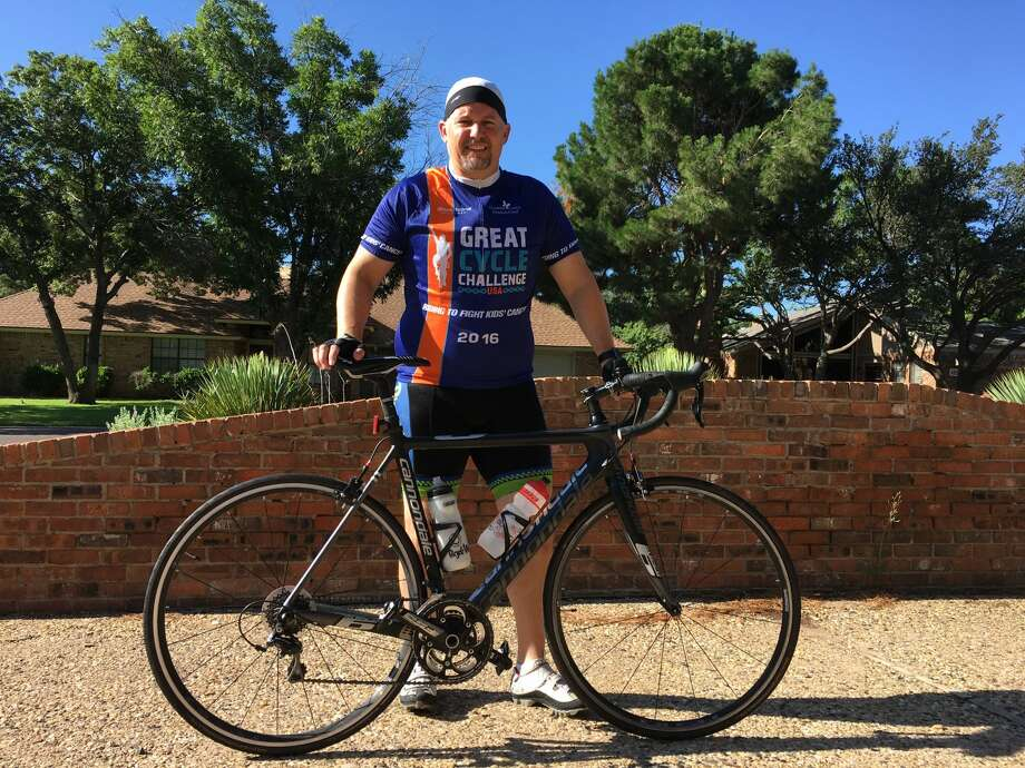 Midlander Randy Stolp participated in Great Cycle Challenge to raise finds for cancer research. Photo: Courtesy Photo