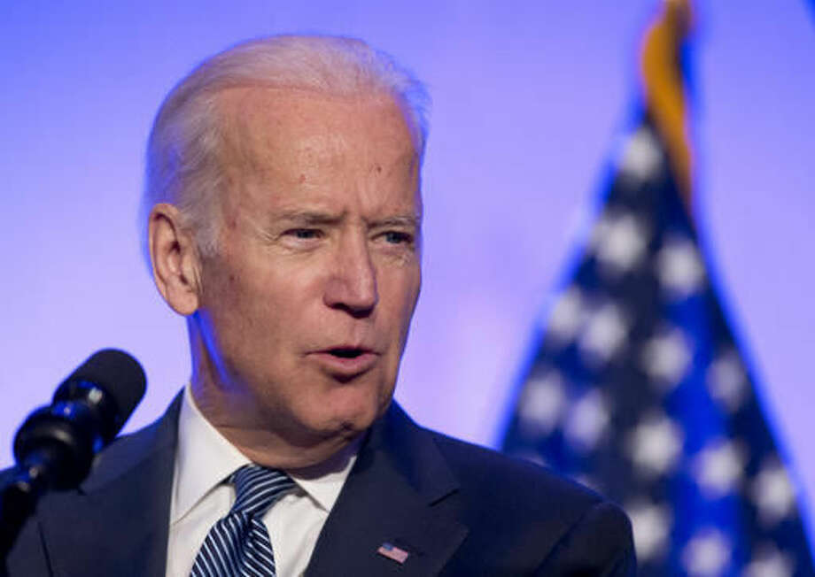 In this photo taken May 9, 2016, Vice President Joe Biden speaks in Washington. Biden is unveiling a public database for clinical data on cancer that aims to help researchers and doctors better tailor new treatments to individuals. (AP Photo/Manuel Balce Ceneta) Photo: Manuel Balce Ceneta