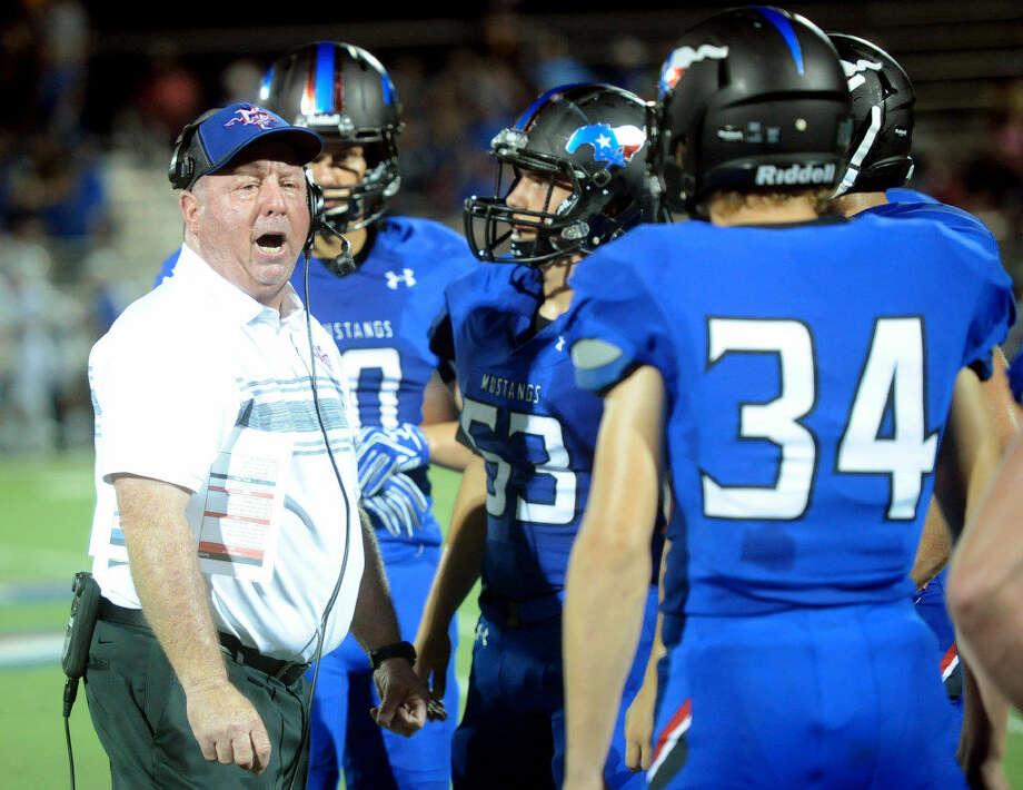 Midland Christian head coach Greg McClendon talks during the game against Brock on Friday, Sept. 2, 2016, at Mustang Field. James Durbin/Reporter-Telegram Photo: James Durbin | Reporter-Telegram