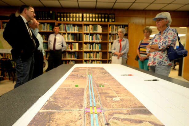 Midlanders had the opportunity to meet with representatives of the city and the Texas Department of Transportation to discuss planned improvements at the intersection of Fairgrounds Rd. and Loop 250, on Thursday, June 2, 2016, at the Sibley Nature Center. James Durbin/Reporter-Tele­gram