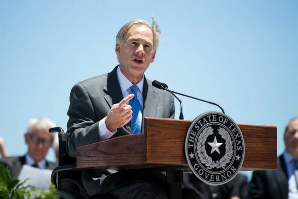 Texas Gov. Greg Abbott speaks during the groundbreaking ceremony for the   Harbor     Bridge   replacement project at the Ortiz Center in   Corpus     Christi  , Texas, Monday, Aug. 8, 2016. Abbott made his first public appearance since being hospitalized last month with severe burns. He attended the groundbreaking of a nearly $900 million new   harbor     bridge   in   Corpus     Christi  . (Courtney Sacco/  Corpus     Christi  Caller-Times via AP)