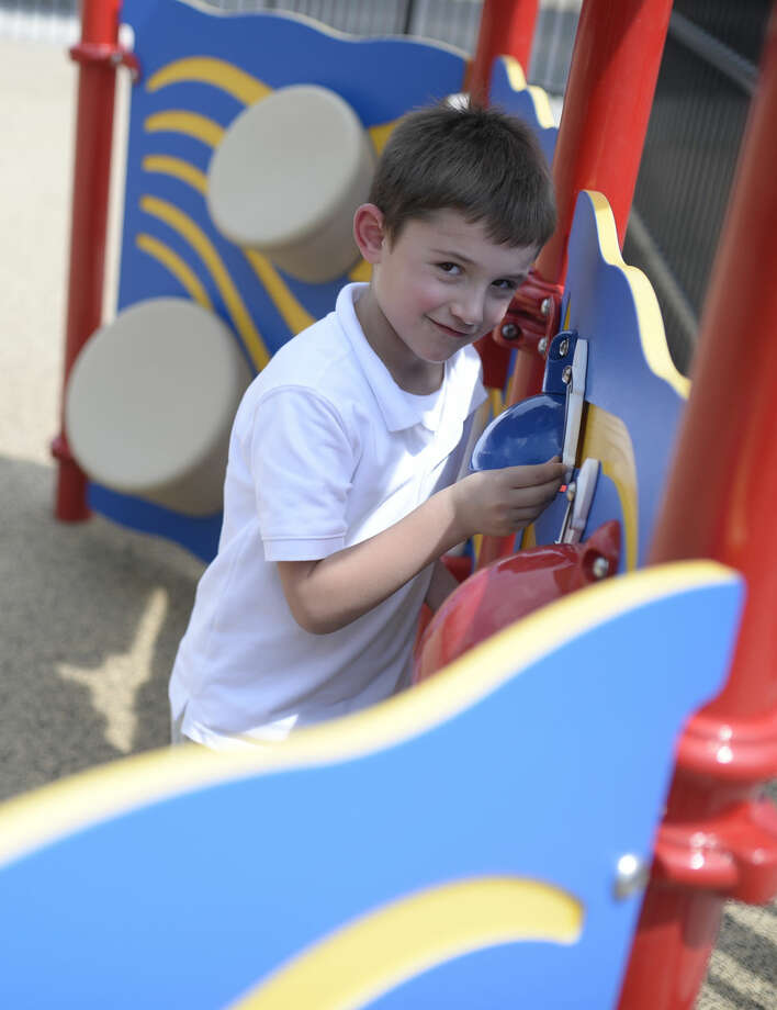 Caden plays on the playground at MARC's new Spectrum of Solutions facility near the intersection of W. Illinois and Plaza on Wednesday, Sept. 7, 2016. James Durbin/Reporter-Telegram Photo: James Durbin
