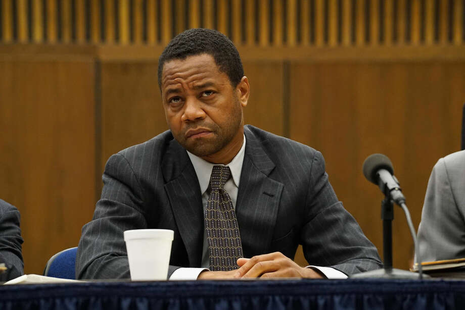 "Cuba Gooding, Jr. portrays O.J. Simpson in a scene from, ""The People v. O.J. Simpson: American Crime Story."" On Thursday, July 14, 2016, Gooding was nominated for outstanding actor in a limited series or movie for his role. The 68th Primetime Emmy Awards will be broadcast live on ABC beginning at 8 p.m. ET on ABC. (Byron Cohen /FX via AP) Photo: Byron Cohen"