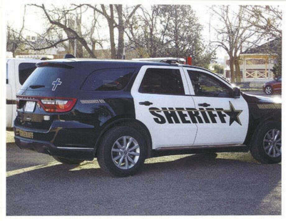 Brewster County Sheriff's Office vehicle displaying cross. Photo: Photo: Attorney General / San Antonio Express-News