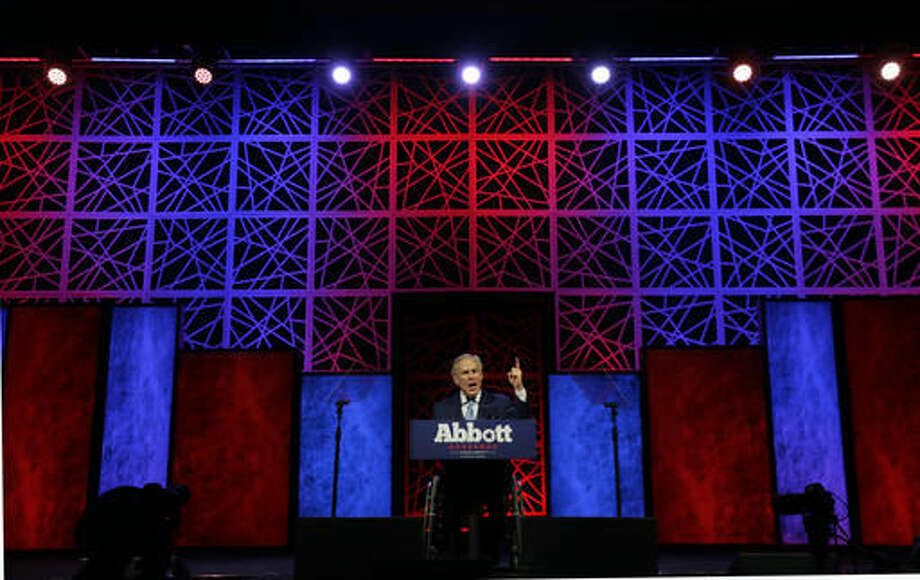 Texas Gov. Greg Abbott speaks during the opening of the Texas Republican Convention Thursday, May 12, 2016, in Dallas. (AP Photo/LM Otero) Photo: LM Otero
