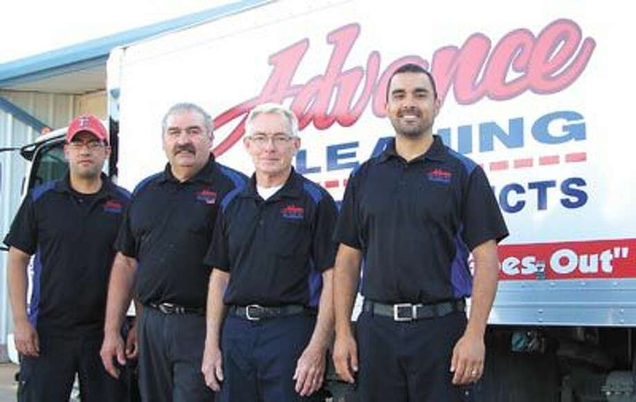 Ready to have a locally-owned company get your carpet clean and fresh? From left, Bryan Avila, Joe Balli, owner Holman Padgett and his son-in-law Michael Mendoza are ready to do just that. Call them at 432-550-8325.