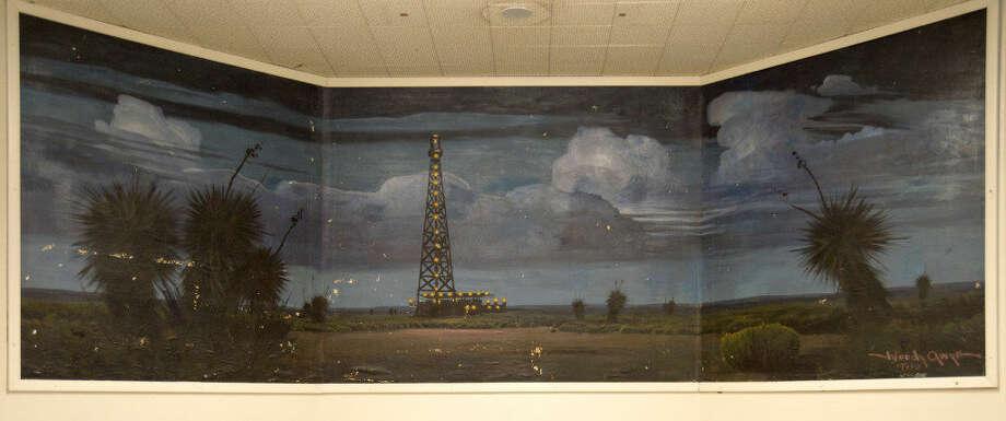 Mural in Midland High School, painted by MHS graduate WoodyGwyn.Thursday 09-01-16Tim Fischer/Reporter-Telegram