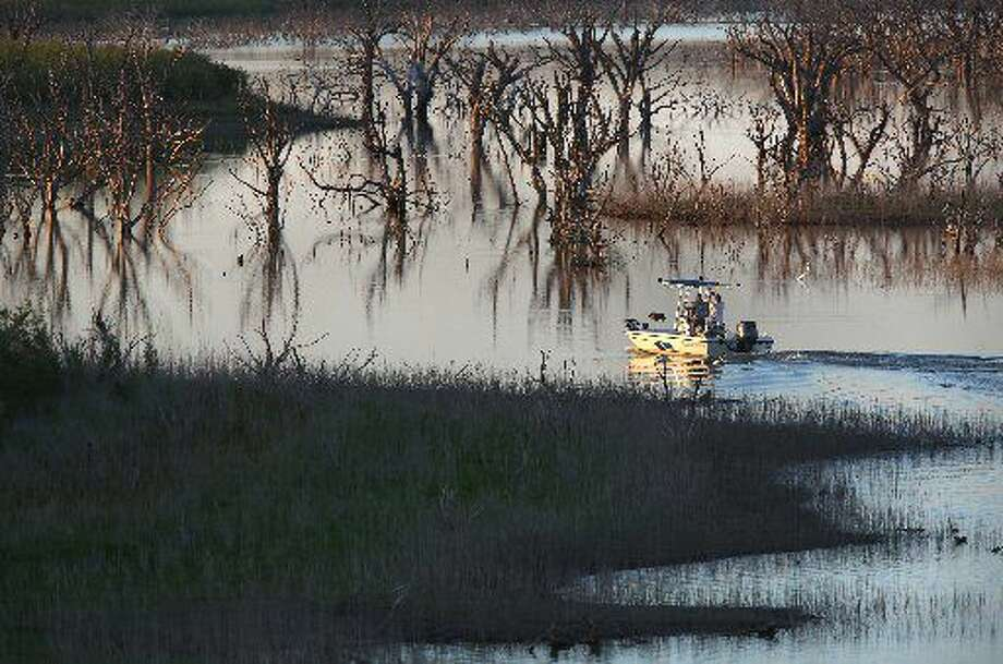 The Colorado River Municipal Water District reports the level of the lake rose by nearly 60,000 acre feet in a few days this week. The National Weather Service reported the rainfall over the past seven days, including 3.25 inches on Wednesday.  Photo: San Antonio Express-News