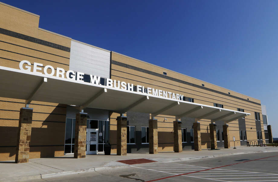 This photo shows the exterior of George W. Bush Elementary School, named after former President George W. Bush, in St. Paul, Texas, on Thursday, Sept. 15, 2016. (David Woo/The Dallas Morning News via AP) Photo: David Woo
