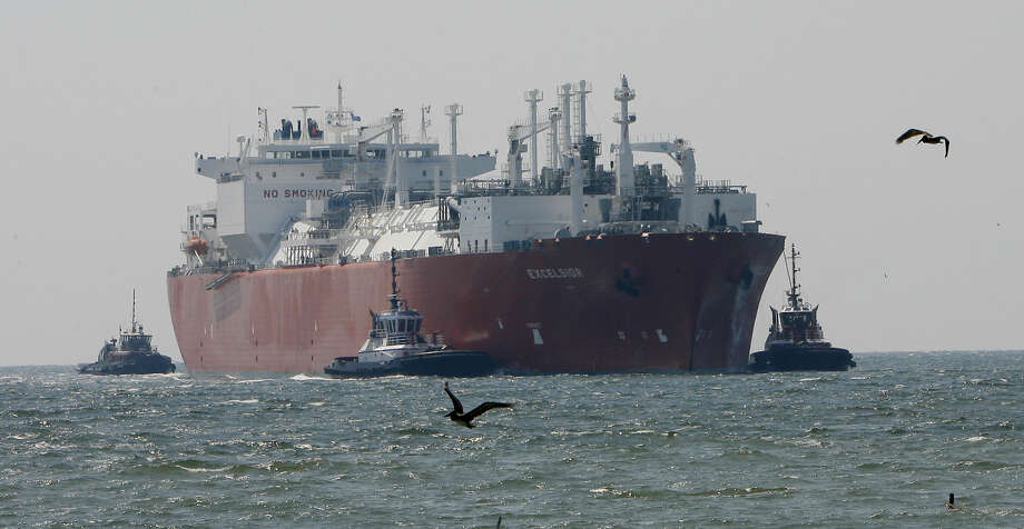 In this April 15, 2008 file photo, the Excelsior arrives at the Freeport LNG (Liquid Natural Gas) terminal in Houston. The Energy Department has given conditional approval to a Texas company that wants to export liquefied natural gas, the second LNG export project the Obama administration has approved as it faces a wave of export requests. The permit would allow Freeport LNG Expansion L.P. to export up to 1.4 billion cubic feet of natural gas per day from its terminal near Freeport, Texas, south of Houston. It is subject to environmental review and final regulatory approval. (AP Photo/Houston Chronicle, Steve Campbell, File) Photo: Steve Campbell