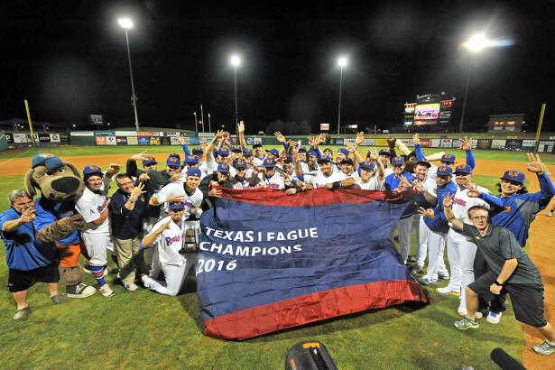 RockHounds players celebrate beating Northwest Arkansas in the Texas League Championship series on Friday, Sept. 16, 2016 at Security Bank Ballpark. James Durbin/Reporter-Telegram