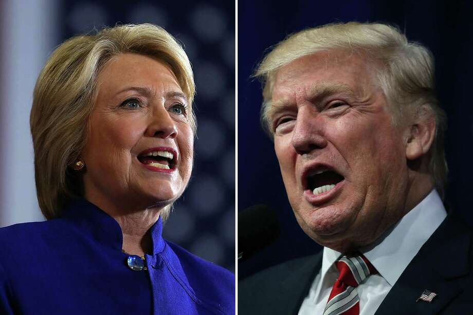 The candidate on the left leads by 2 million votes. The candidate on the right has been elected President of the United States