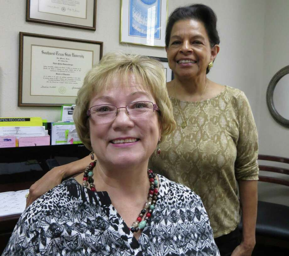 Naomi Manski, seated, will replace Thalia Stautzenberger as Seguin city secretary in November 2016. Stautzenberger is the last elected City Secretary in Texas, according to Texas Municipal Clerks Association. Manski is the city's first appointed secretary, named by the city  manager. Photo: Zeke MacCormack / Zeke MacCormack / San Antonio Express-News