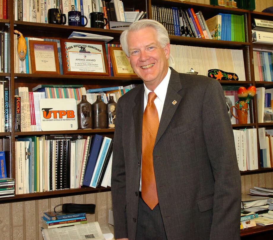 University of Texas of the Permian Basin President David Watts will depart June 30. Photo: Midland