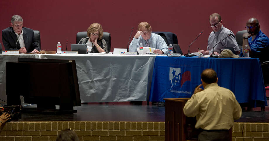 Midland school board members discuss and vote on setting August 8 as a public meeting to discuss a proposed budget and tax rate increase during the board meeting Monday 07-25-16. Tim Fischer/Reporter-Telegram Photo: Tim Fischer