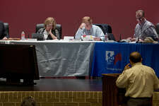 Midland school board members discuss and vote on setting August 8 as a public meeting to discuss a proposed budget and tax rate increase during the board meeting Monday 07-25-16. Tim Fischer/Reporter-Telegram