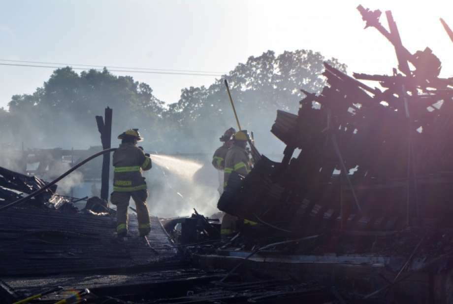 The place where generations of Texans danced and celebrated is no more after a firefighters worked June 19 into June 20, 2016, battling a fire at Fredericksburg's historic Turner Hall, according to media reports and authorities. Photo: Photo: Fredericksburg Standard Via An Antonio Express-News