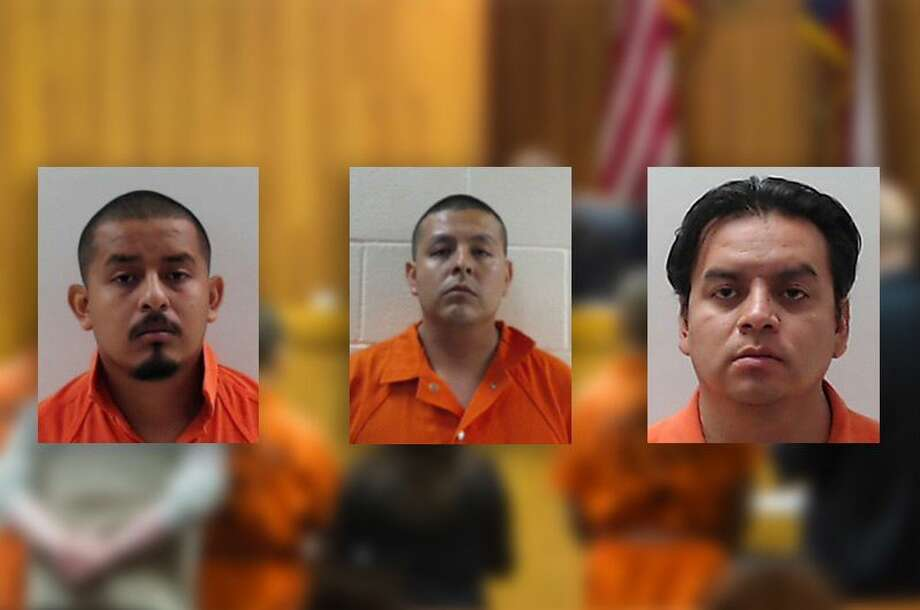 TheLunabrothers, including Border Patrol agentJoel, center, were indicted on capital murder and organized crime charges in the 2015 beheading death of a Honduran immigrant. Eldest brother Fernando, right, struck a deal with prosecutors on Aug. 25, 2016, and the most serious charges against him were dropped. Now the focus has shifted to the alleged Gulf Cartel ties of youngest brother Eduardo, left. Photo: Texas Tribune