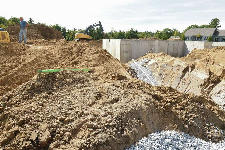 Construction continues on new homes in the Glen Meadows development on Monday, Sept. 26, 2016 in  Halfmoon, N.Y.  (Lori Van Buren / Times Union) Photo: Lori Van Buren / 40038158A
