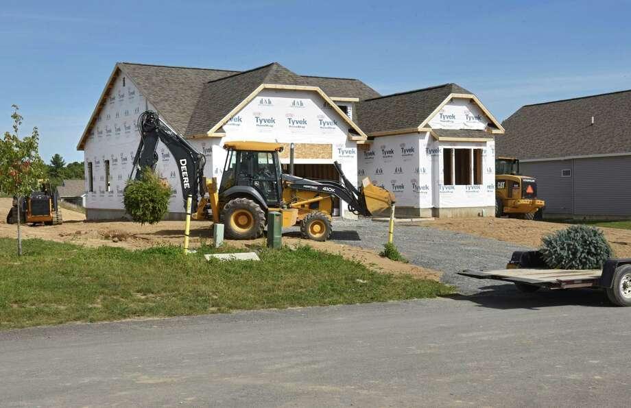 Homes are under construction last autumn in Halfmoon. Supply has lagged demand, according to local brokers, pushing prices higher. (Lori Van Buren / Times Union) Photo: Lori Van Buren / 40038158A