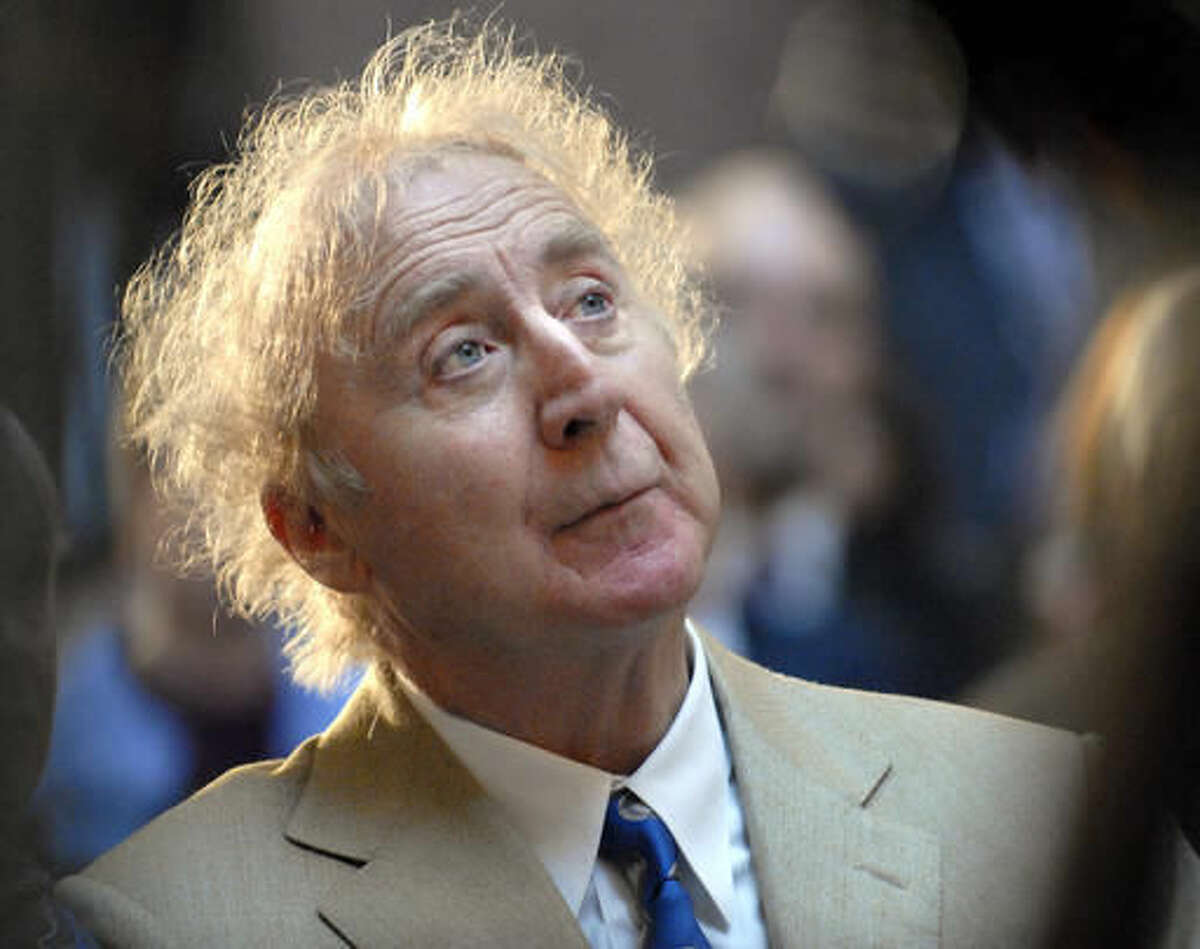 """In this April 9, 2008 file photo, actor Gene Wilder listens as he is introduced to receive the Governor's Awards for Excellence in Culture and Tourism at the Legislative Office Building in Hartford, Conn. Wilder, who starred in such film classics as """"Willy Wonka and the Chocolate Factory"""" and """"Young Frankenstein"""" has died. He was 83. (AP Photo/Jessica Hill, File)"""
