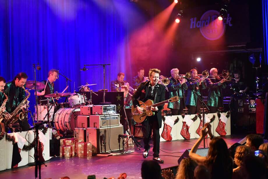 """The Brian Setzer Orcehstra will headline the """"Christmas Rocks!"""" show at the Warfield on Sunday Dec. 24 with the 19-piece band performing Christmas classics and more. Photo: Debra L Rothenberg, Getty Images For SiriusXM"""