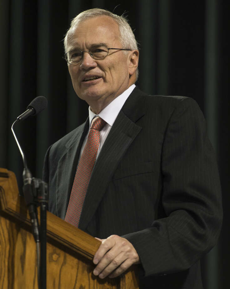MISD interim superintendent Rod Schroder speaks Wednesday 08-10-16 as part of the MISD welcome and welcome back to teachers and staff at the annual convocation. Tim Fischer/Reporter-Telegram Photo: Tim Fischer
