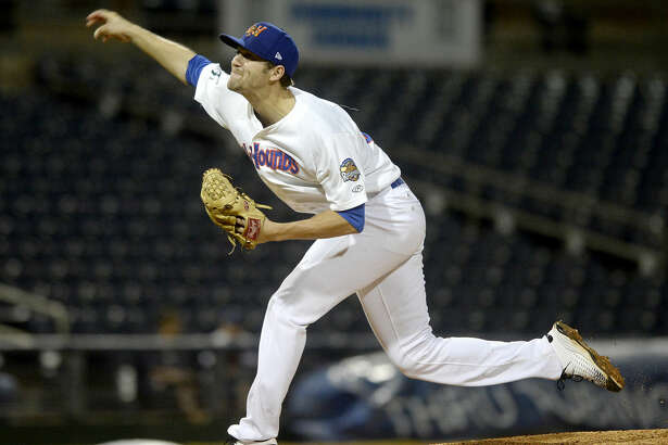 RockHounds starting pitcher James Naile throws against Northwest Arkansas in game four of the Texas League Championship series on Thursday, Sept. 15, 2016 at Security Bank Ballpark. James Durbin/Reporter-Telegram