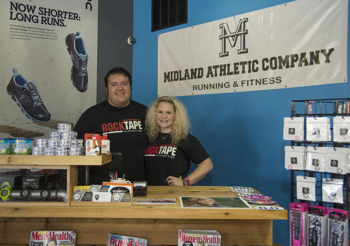 Martin and Jennifer Vega, new owners of Midland Athletic Company. Friday 09-23-16 Tim Fischer/Reporter-Telegram