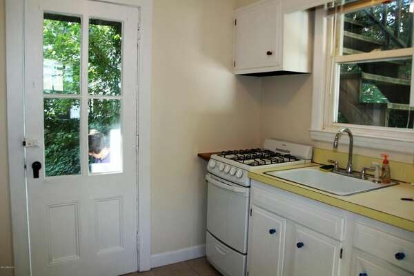 This property at 164 Byram Road in Greenwich for $1,595 a month is a one-bedroom, one-bath home with new living room rug, new paint, hardwood floors, washer and dryer, and two off-street parking spaces. The owner pays for heat, and the tenant pays for gas for cooking, hot water and electric.