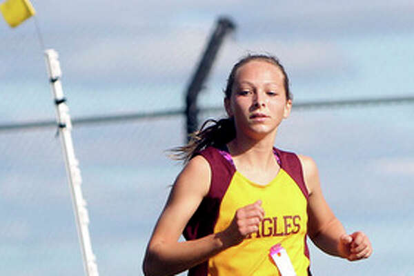 Left, Deckerville's Kylee Colesa finished fourth.