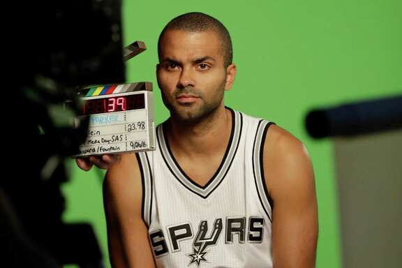 Spurs guard Tony Parker takes part in Media Day on Sept. 26, 2016, in San Antonio.