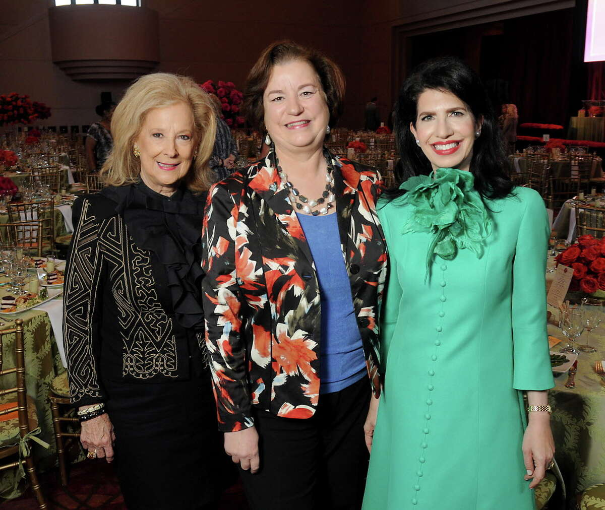 From left: Chair Mary Ann McKeithan, Katy Caldwell and honoree Dr. Kelli Cohen Fein at the 14th Annual Legacy Luncheon at the Wortham Theater Monday Sept. 26, 2016. (Dave Rossman Photo)