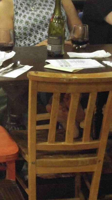 Ken Hoffman doesn't like looking at feet while he eats in a restaurant. Is he alone? Photo: Ken Hoffman