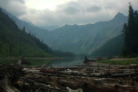 Bring a picnic to Avalanche Lake at Glacier National Park in Montana and take in some stunning views.