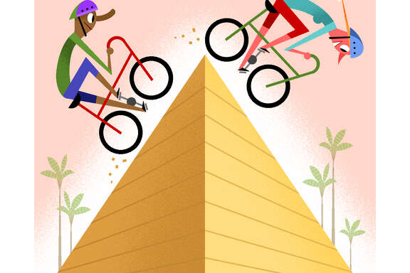-- PHOTO MOVED IN ADVANCE AND NOT FOR USE - ONLINE OR IN PRINT - BEFORE SEPT. 25, 2016. -- When planning an active vacation, find trips that match your fitness level é' and consider those that offer more than one type of sport. (Bob Staake/The New York Times) -- NO SALES; FOR EDITORIAL USE ONLY WITH  ACTIVE GETAWAYS ADV25 BY SHIVANI VORA FOR SEPT. 25, 2016. ALL OTHER USE PROHIBITED.