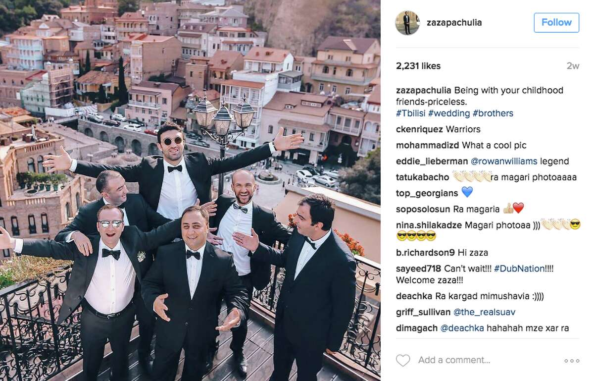 Zaza Pachulia spent time in his native Tbilisi in Georgia to attend the wedding of a friend.