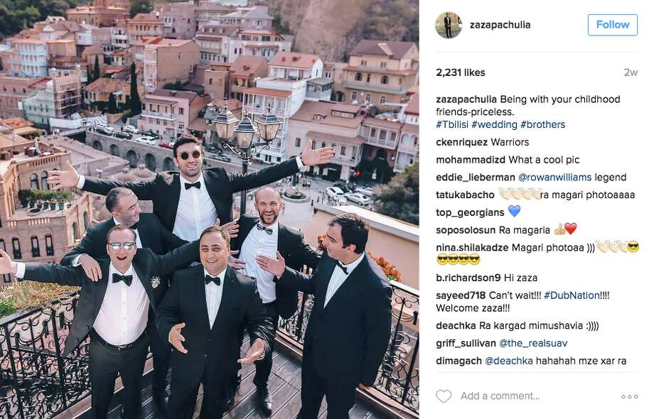 Zaza Pachulia spent time in his native Tbilisi in Georgia to attend the wedding of a friend.   Photo: Screenshot