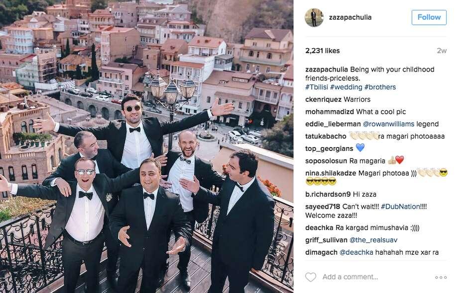 Zaza Pachulia spent time in his native Tbilisi in Georgia to attend the wedding of a friend.  Photo: Screenshot