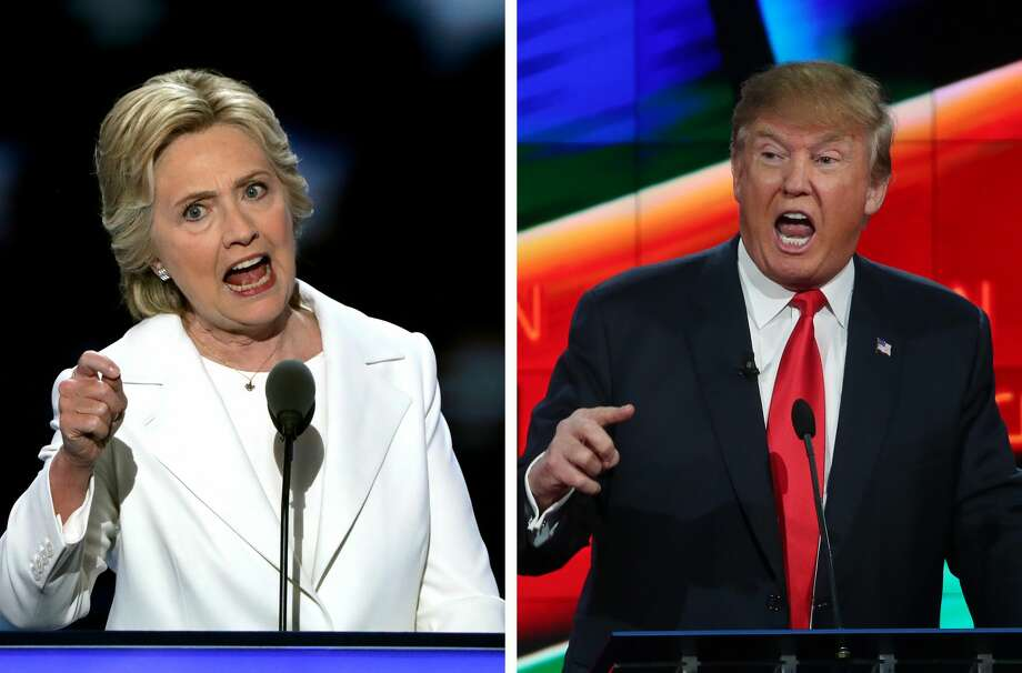 "CLINTON vs. INTERNATIONAL MAN OF MYSTERYJust who will show up to debate Clinton? Will it be the say-anything Trump who roiled the primary debates by dishing out a stream of insults and provocations? Or the rein-it-in Trump who's been trying to demonstrate of late that he has the maturity and measured temperament to be president? One possible clue: Watch to see whether Trump trots out the ""crooked Hillary"" nickname or puts it on ice for 90 minutes. Photo: Alex Wong/Getty Images"