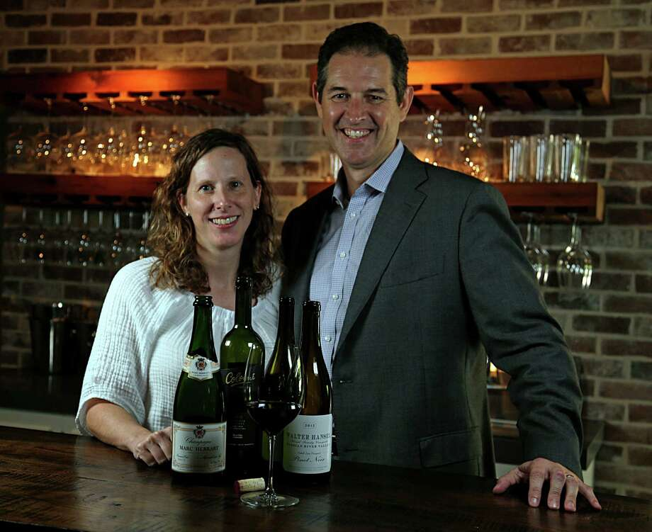 Liz and Paul Palmer own and operate the Texas Wine School and Art of Collecting. Photo: James Nielsen, Staff / © 2016  Houston Chronicle
