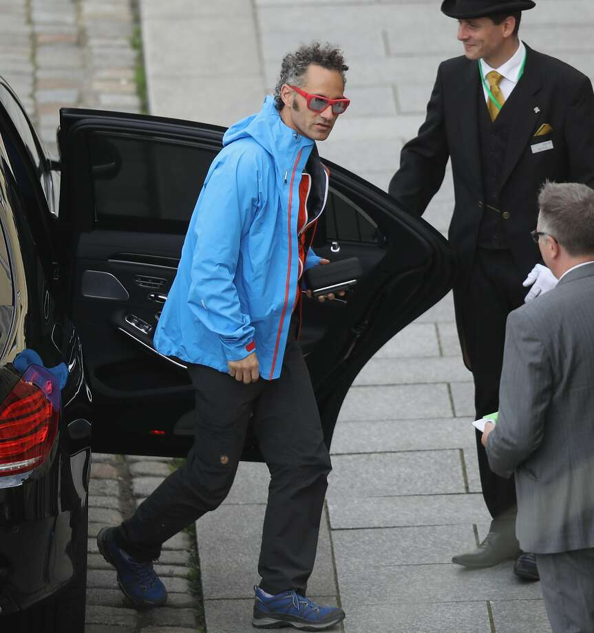 DRESDEN, GERMANY - JUNE 09:  Alex Karp, CEO of Palantir Technologies, arrives at the Hotel Taschenbergpalais Kempinski Dresden for the 2016 Bilderberg Group conference on June 9, 2016 in Dresden, Germany. The Taschenbergpalais is hosting the 2016 Bilderberg Group gathering that will bring together 130 leading international players from politics, industry, finance, academia and media to discuss globally-relevant issues from today until June 12. A wide spectrum of groups have announced protests to be held nearby. Critics charge the secretive nature of the Bilderberg Group annual meetings is undemocratic.  (Photo by Sean Gallup/Getty Images) Photo: Sean Gallup, Getty Images
